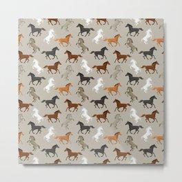 Horse Pattern | Horseback Riding Pony Stallion Metal Print