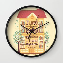 Lived in books Wall Clock