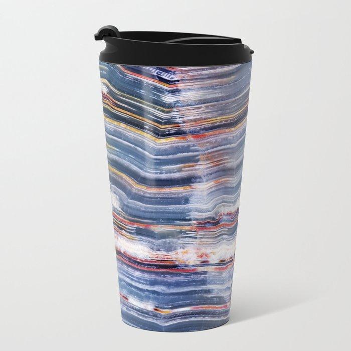 Marble  Metal Travel Mug