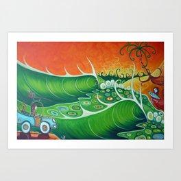 """Green Cove"" Art Print"
