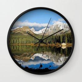 Reflection Of Brainard Lake Wall Clock