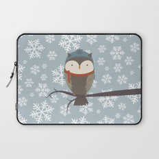 Owlbert the Winter Owl Laptop Sleeve