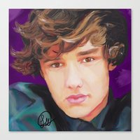 liam payne Canvas Prints featuring Liam Payne  by Tune In Apparel