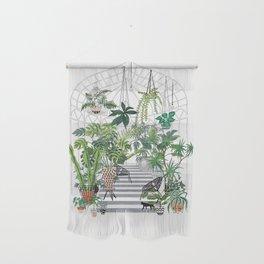 greenhouse illustration Wall Hanging