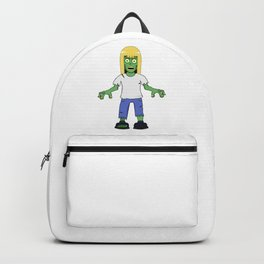 Zombie Girl with Blonde Hair Backpack
