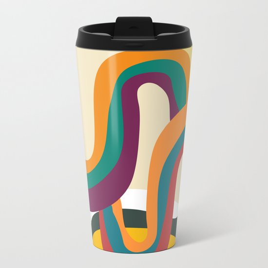 Groovy rainbow of doom Metal Travel Mug
