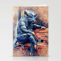 taurus Stationery Cards featuring Taurus by jbjart