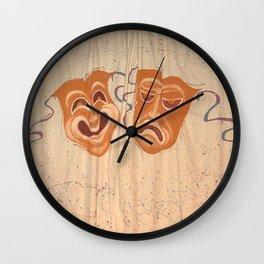 Mask curtain  Wall Clock