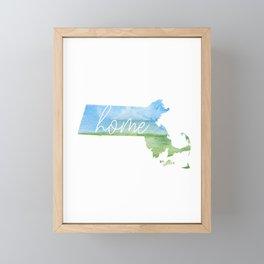 Massachusetts Home State Framed Mini Art Print