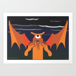 under the glance of cthulhu Art Print