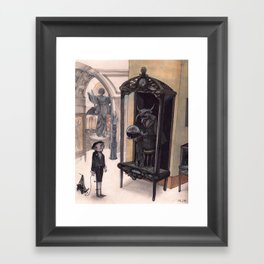 in the Museum Framed Art Print