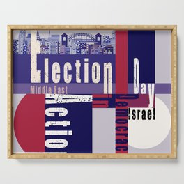 Election Day 4 Serving Tray