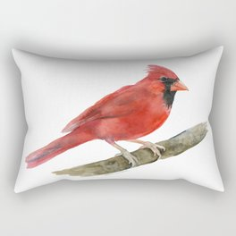 Red Cardinal Watercolor Rectangular Pillow