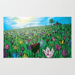 Rolling in Tulips Rug