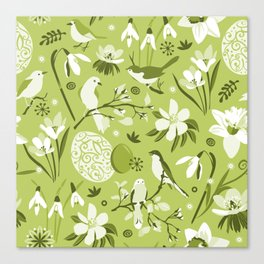 Finally Easter! [mono green] Canvas Print