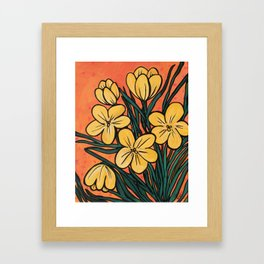 Yellow Crocuses Framed Art Print