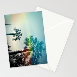 Palm trees of Barcelona Stationery Cards