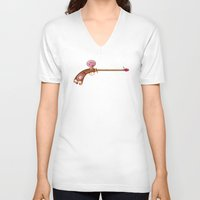 arsenal V-neck T-shirts featuring Rose Water Pistol by Katie Lawter