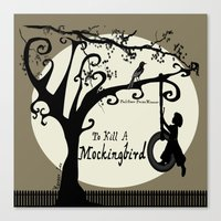 to kill a mockingbird Canvas Prints featuring To Kill A Mockingbird by 2SmartCats