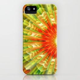 Abstract yellow orange luxury Mandala iPhone Case