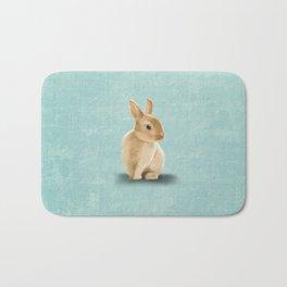 Portrait of a little bunny Bath Mat