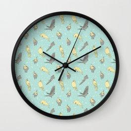 Cockatiel pattern Wall Clock