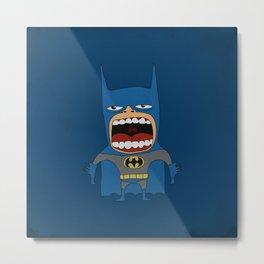 Screaming Batdude Metal Print