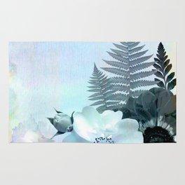 baby blue floral pattern Rug