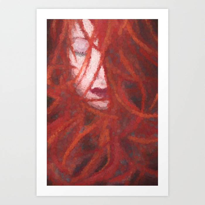 Red by Brian Vegas Art Print