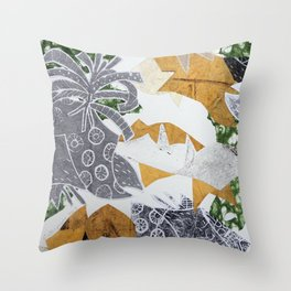 Tropical Toile Throw Pillow