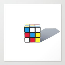Mondrian Cube Canvas Print