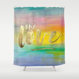 One Love, Ocean Sunrise 2 Shower Curtain