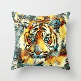 AnimalArt_Tiger_20170607_by_JAMColorsSpecial Throw Pillow