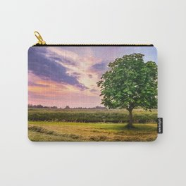 Green Tree and Sunset Sky Carry-All Pouch