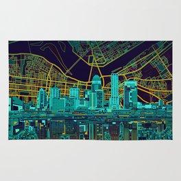 louisville skyline abstract Rug