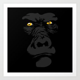 Gorila Eyes Art Print