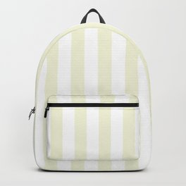 Narrow Vertical Stripes - White and Beige Backpack