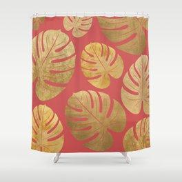 Gold Leaf pattern Shower Curtain