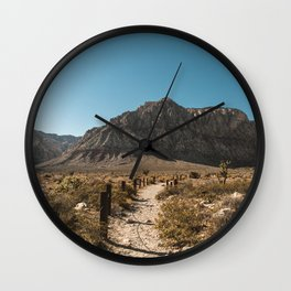 Path to Red Rock Canyon Wall Clock