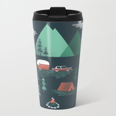 Pitch a Tent Metal Travel Mug