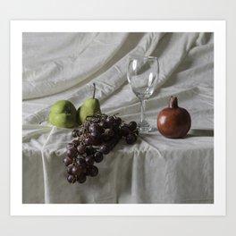Bodegón de frutas Art Print