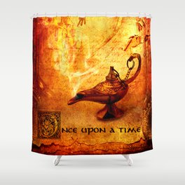Once Upon A Time Fairy Tale  Shower Curtain
