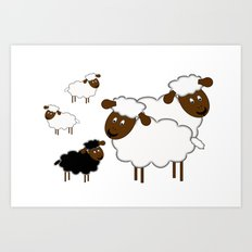 The black sheep Art Print