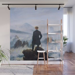 """Caspar David Friedrich """"Wanderer above the sea of fog"""" Wall Mural"""