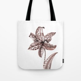 Henna Lily Tote Bag