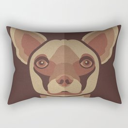 Brownie- Chihuahua Pet Design in Warm and Modern Colors for Pet Lovers Rectangular Pillow
