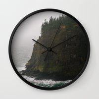 oregon Wall Clocks featuring Oregon Coast: III // Oregon by Corrie Mick