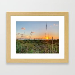 Beautiful Florida Beach Sunset Over Matanzas Inlet Framed Art Print