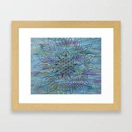 Jade River Mandala Framed Art Print