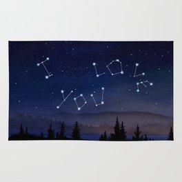 I love You Stars Design Rug